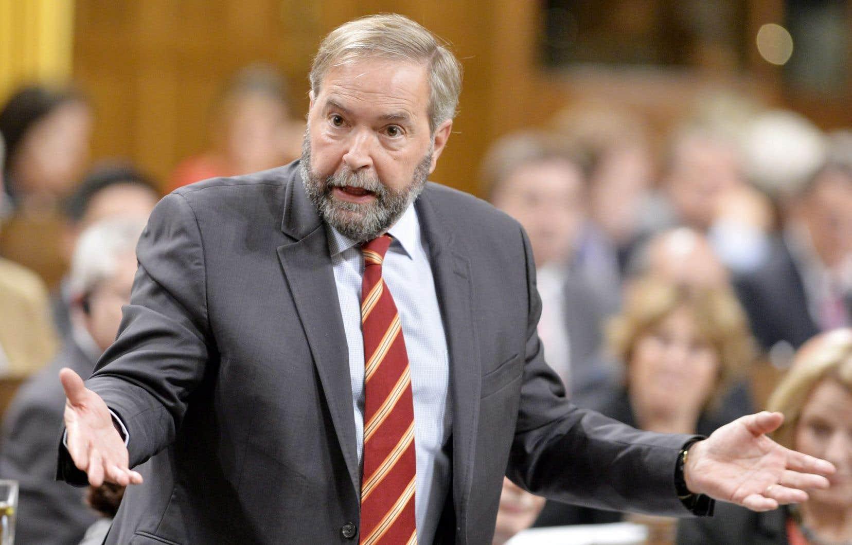 Thomas Mulcair avait été excédé par les réponses du conservateur Paul Calandra à une question sur la participation canadienne en Irak.
