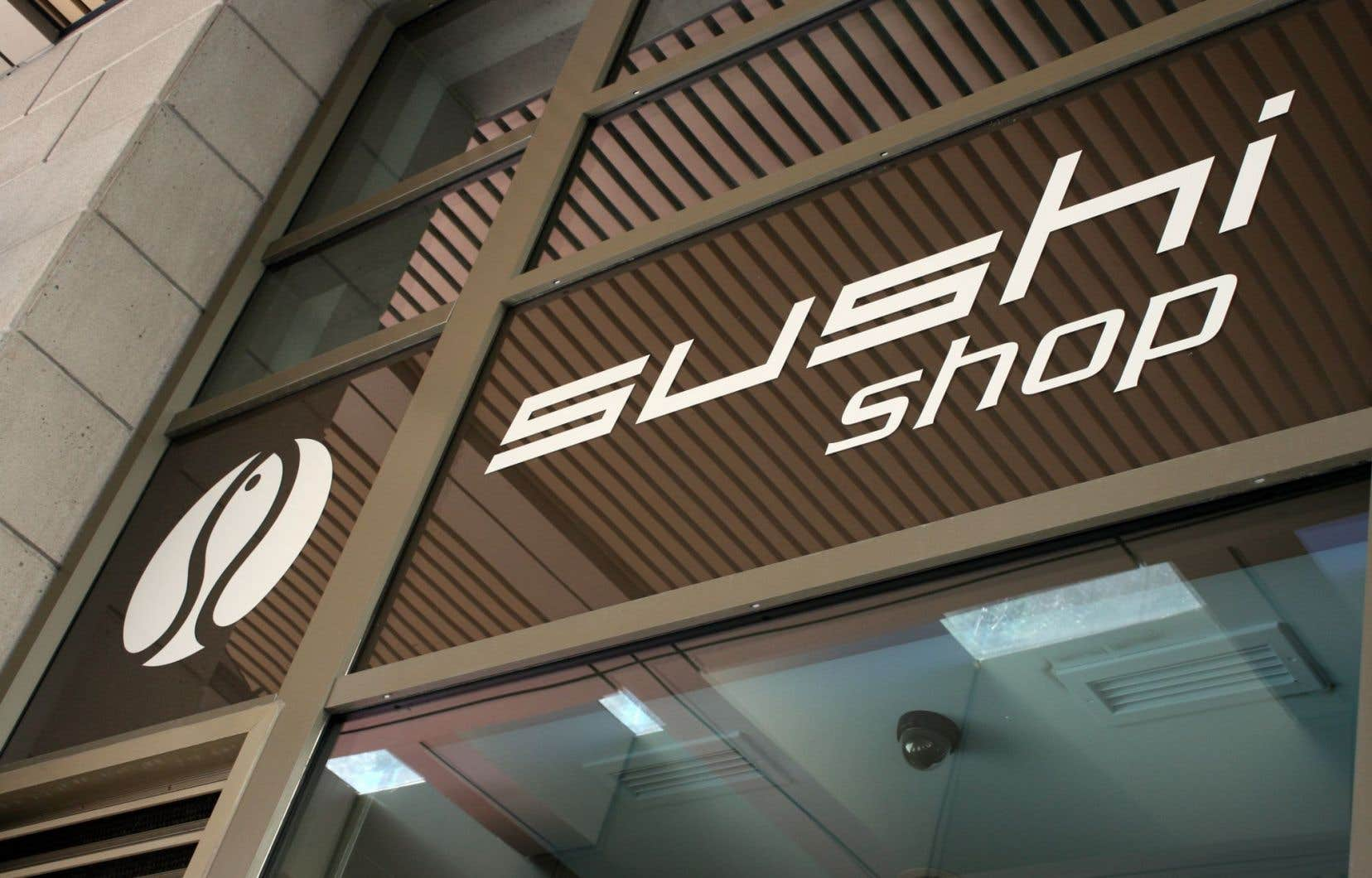 La société montréalaise est derrière plus de deux dizaines de bannières de restaurants comme Sushi Shop.