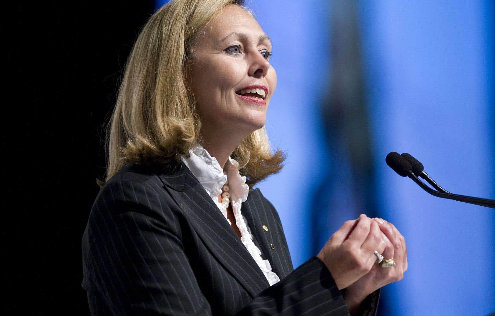 Monique Leroux, présidente du Mouvement Desjardins