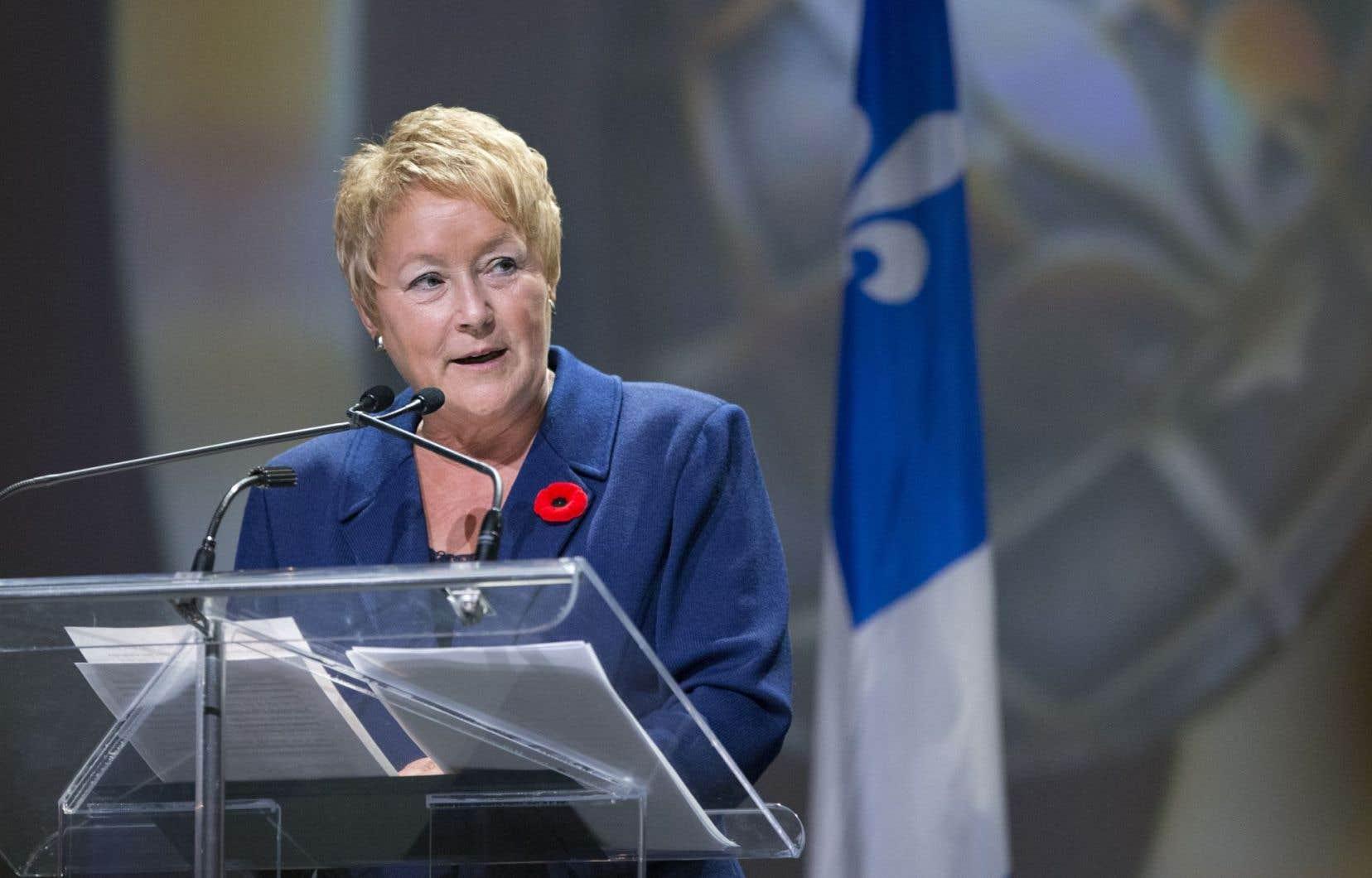 En septembre 2012, Pauline Marois est devenue la première première ministre du Québec.