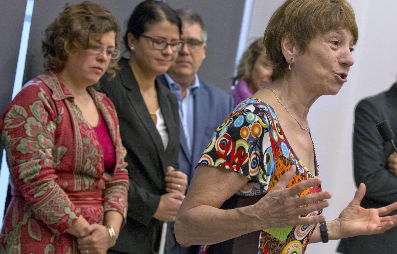Françoise David,co-porte-parole de Québec solidaire