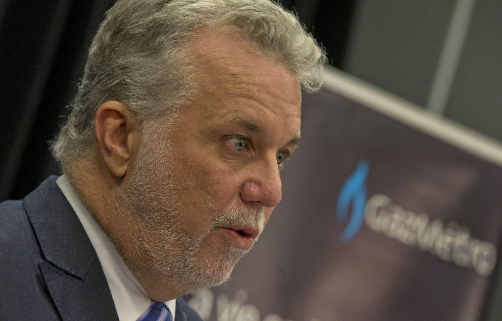 Le premier ministre Philippe Couillard prononcera deux allocutions au cours de la journée.<br />