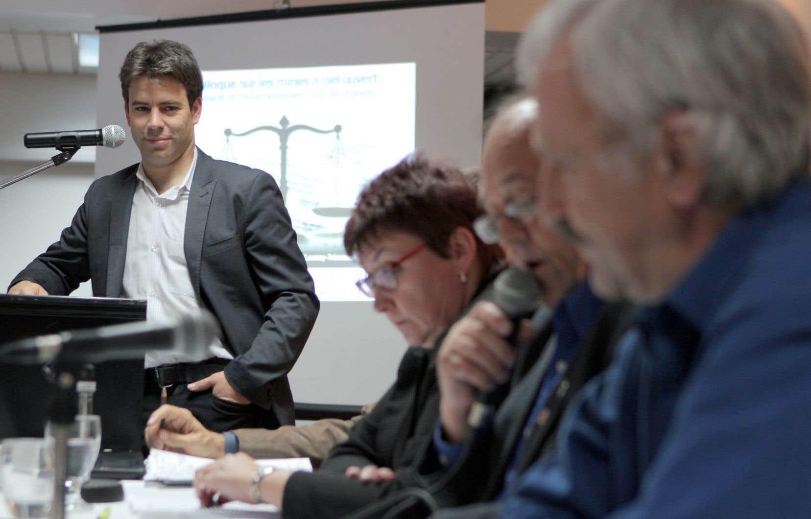Ugo Lapointe, porte-parole de la Coalition Québec meilleure mine
