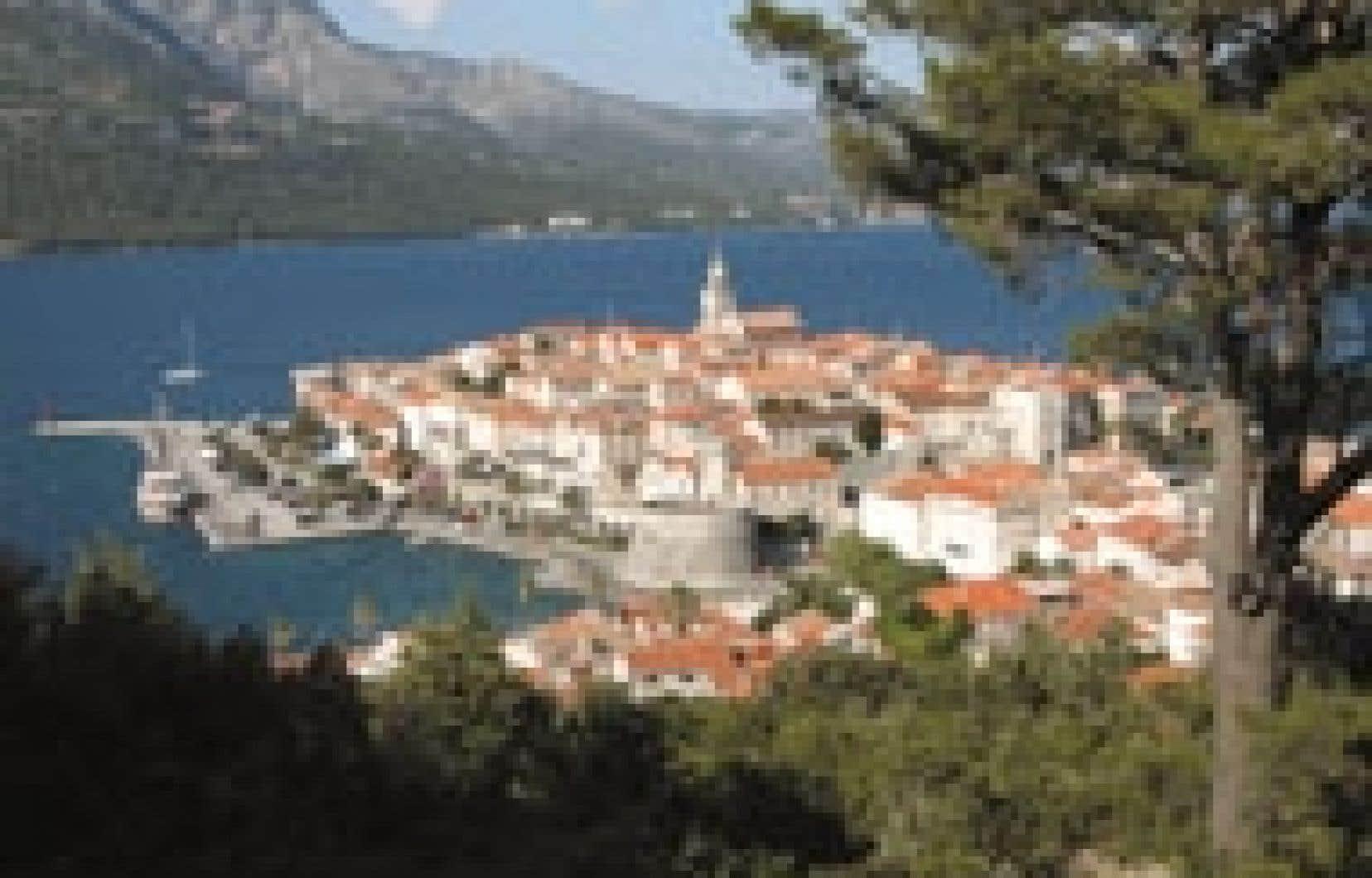 Source Lio Kiefer Korcula, une petite île en face de Dubrovnik.