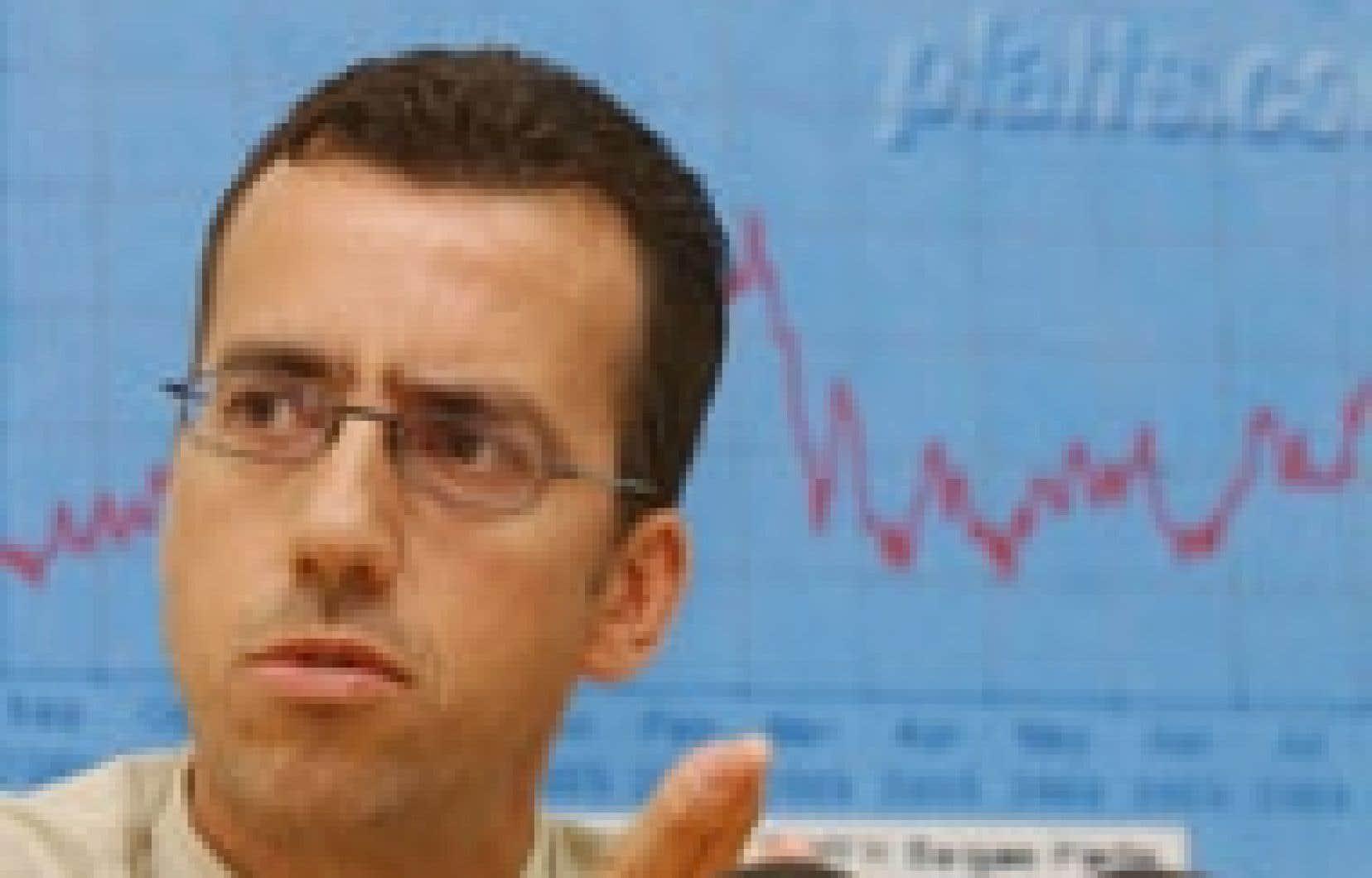 Frédéric Quintal, porte-parole du groupe L'Essence à juste prix.