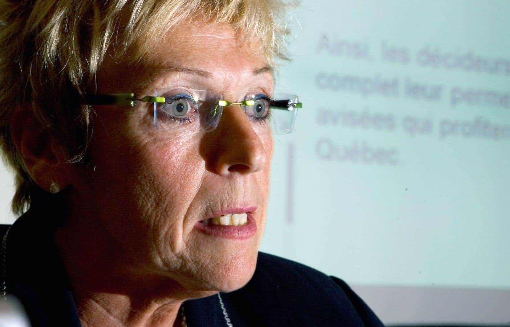 Françoise Bertrand, la p.-d.g. de la Fédération des chambres de commerce du Québec