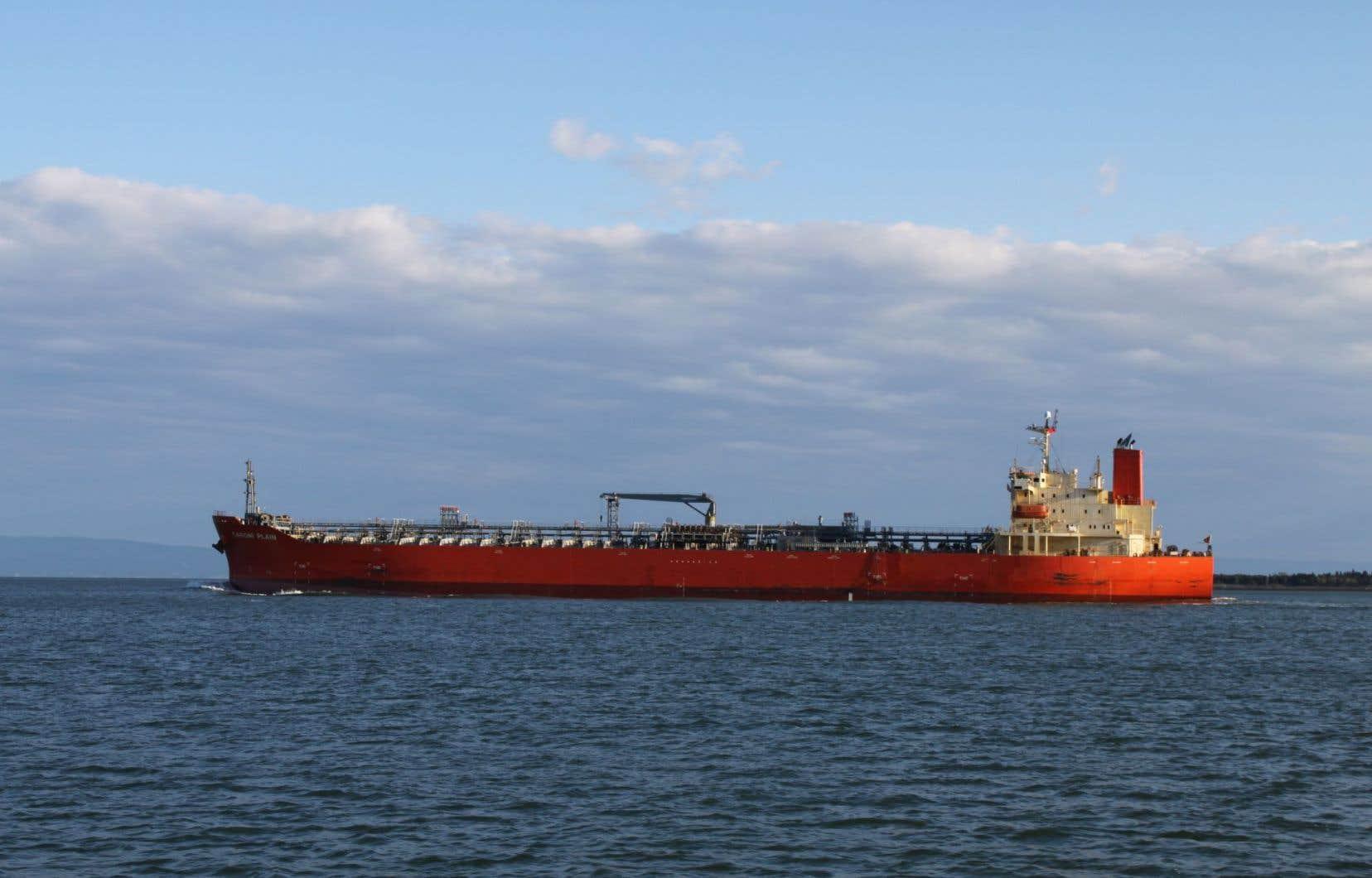 D'imposants pétroliers empruntent déjà la voie maritime du Saint-Laurent, fragile et risquée pour la navigation.