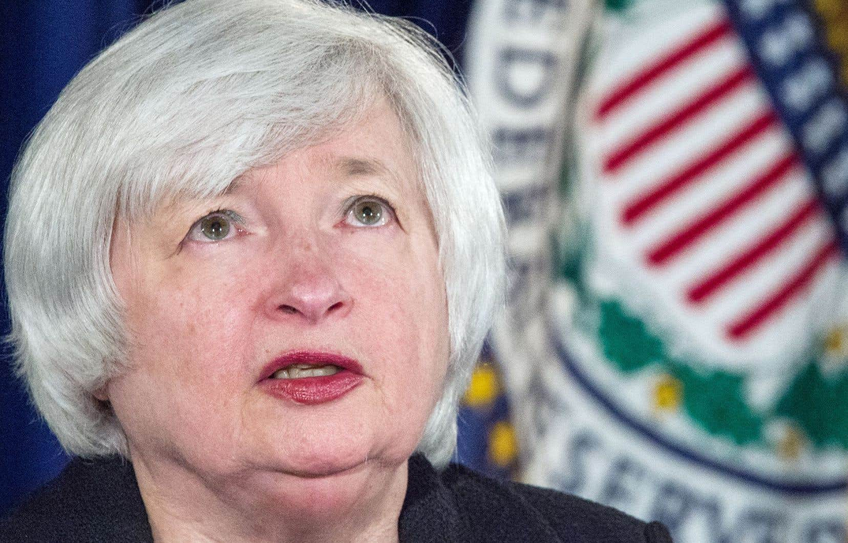 La présidente de la banque centrale américaine Janet Yellen