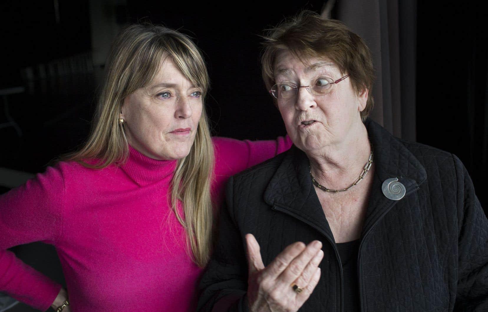 Markita Boies et Nicole Brossard proposent non pas une reprise de l'œuvre originale «La nef des sorcières», mais plutôt une nouvelle création inspirée du projet initial de la regrettée Luce Guilbeault.