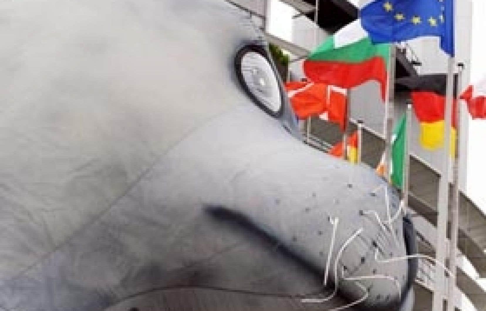 Le Fonds international pour la protection des animaux avait installé hier un loup-marin géant devant l'édifice du Parlement européen, à Strasbourg, où les députés ont approuvé par une écrasante majorité le boycottage des produits dérivés d