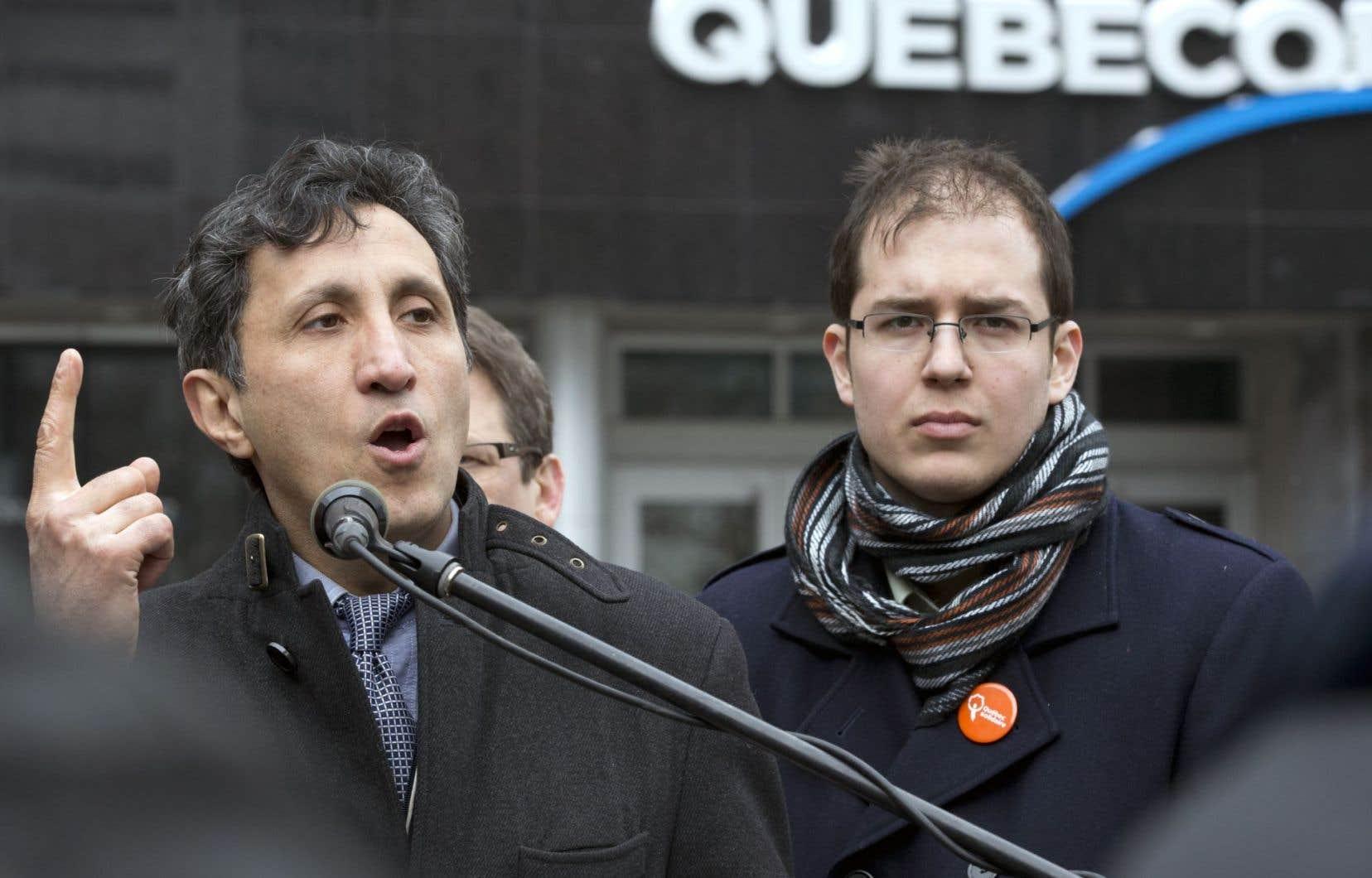 Pour Amir Khadir (à gauche), PKP est un «trompeur», un «capitaliste agressif», un «exploiteur d'ouvriers», etc.
