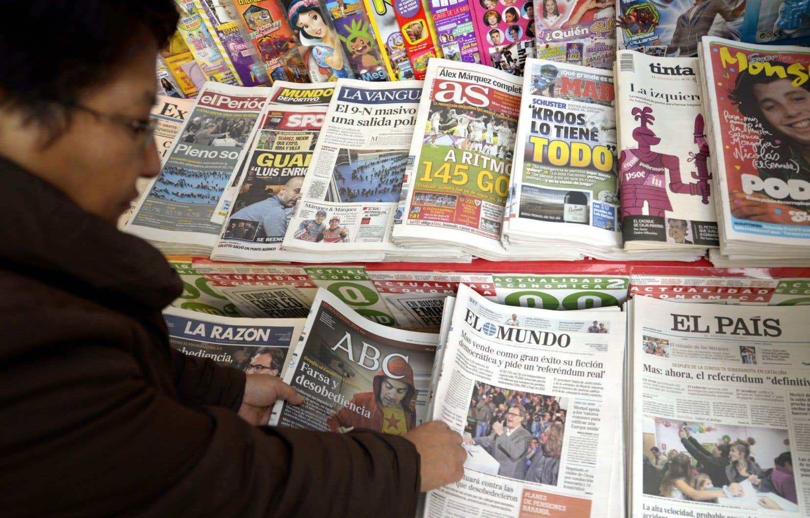Les journaux de Barcelone, en Catalogne, au lendemain du « oui » symbolique