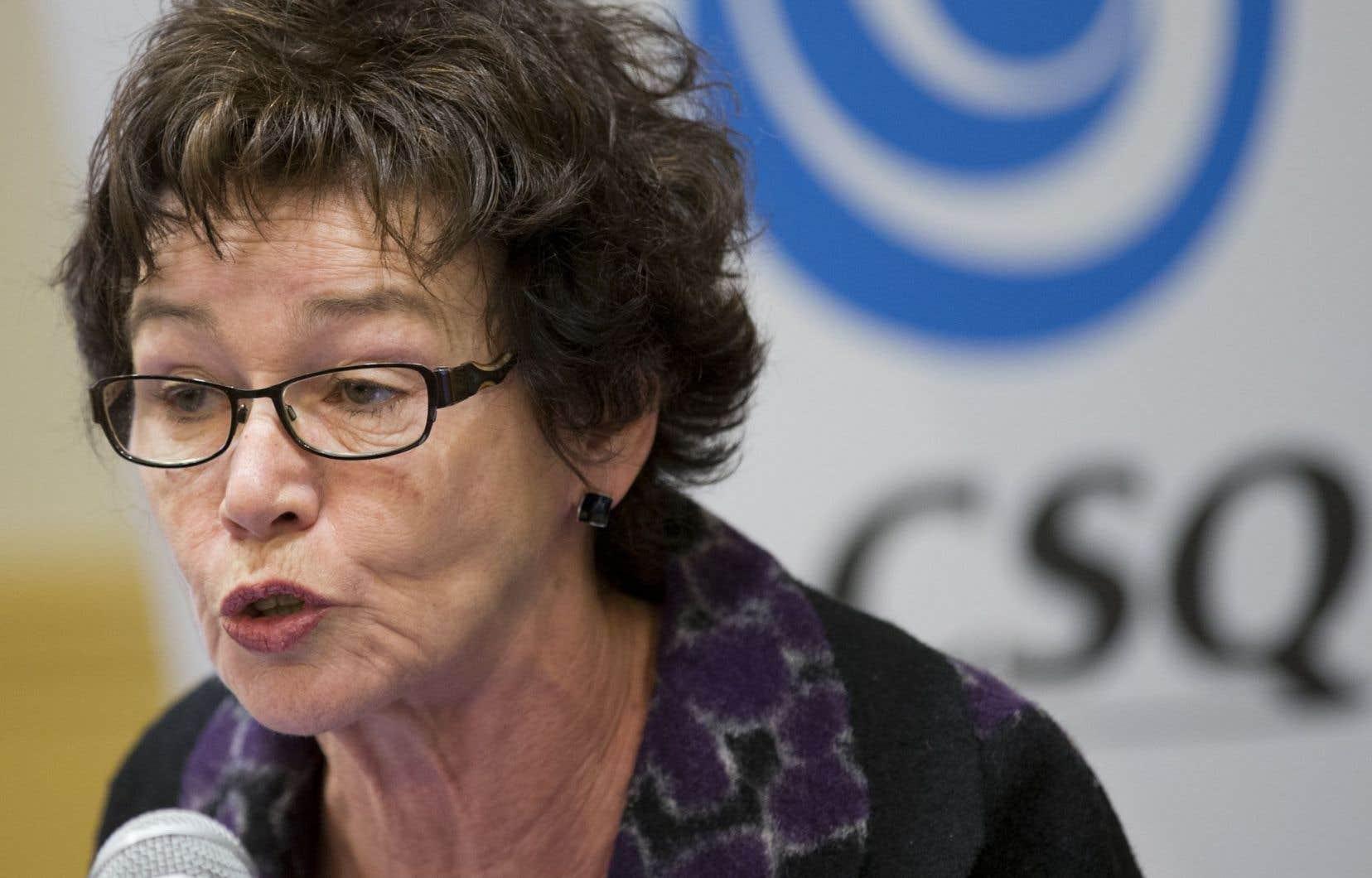 La présidente de la Centrale des syndicats du Québec, Louise Chabot, estime que la réforme de la santé n'atteindra aucun objectif économique.