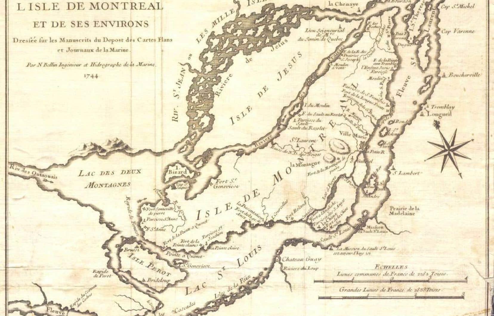Carte de N. Bellin, ingénieur et hidrographe de la Marine (1744)
