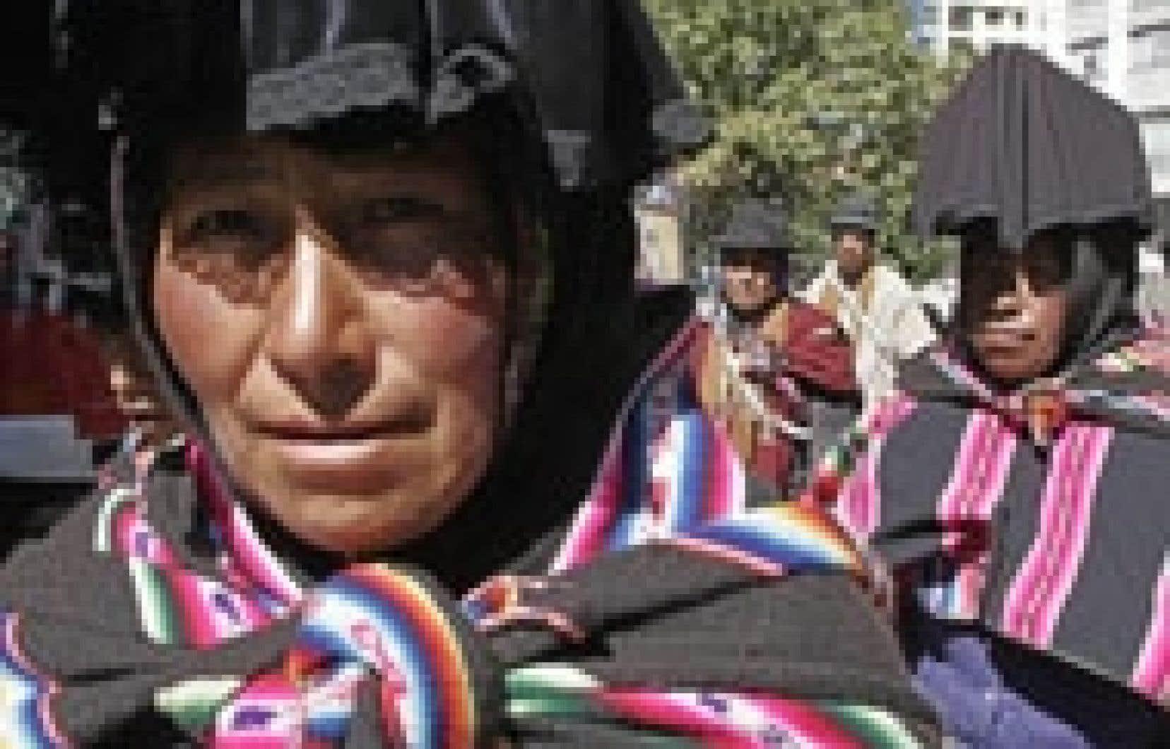 Les manifestations ont quasiment paralysé la capitale, La Paz.