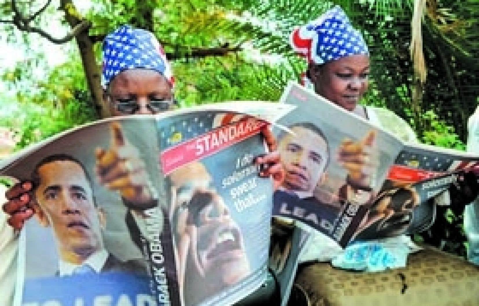 L'élection de Barack Obama avait soulevé une vague d'enthousiasme immense en Afrique, et principalement au Kenya (photo), là où est né son père.