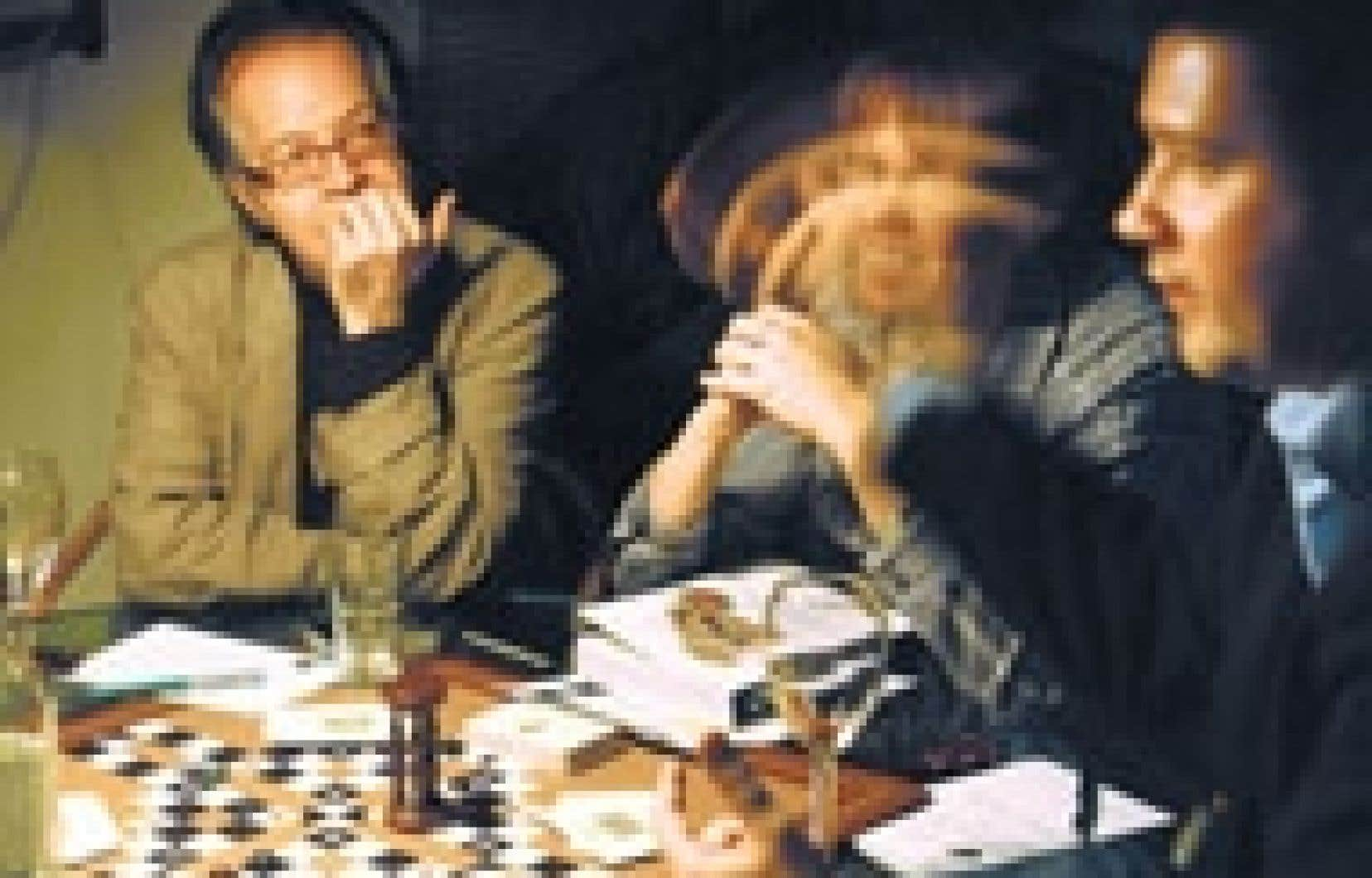 Des taobuddies révèlent leur quête au grand jour. Le jeu du tao, le strip-poker du nouveau millénaire. Photo : Mata Hari