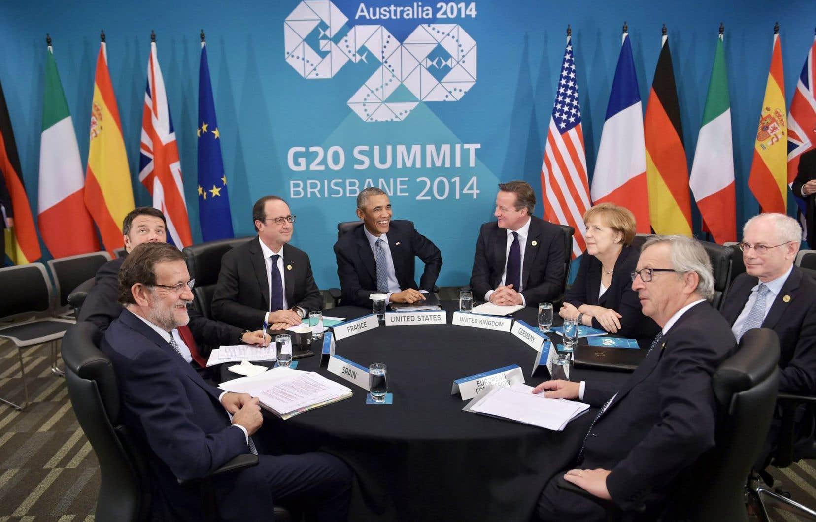 Les chefs de gouvernement du G20 avaient affichaient un sourire à l'issue du sommet de Brisbane.