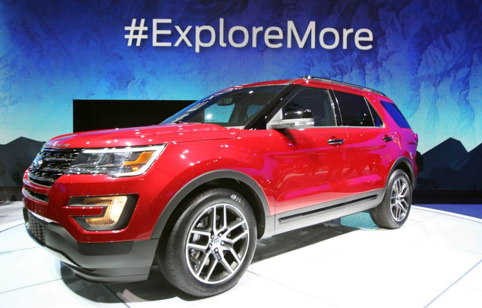 Le nouveau modèle de Ford Explorer présenté lors du Salon de l'automobile de Los Angeles