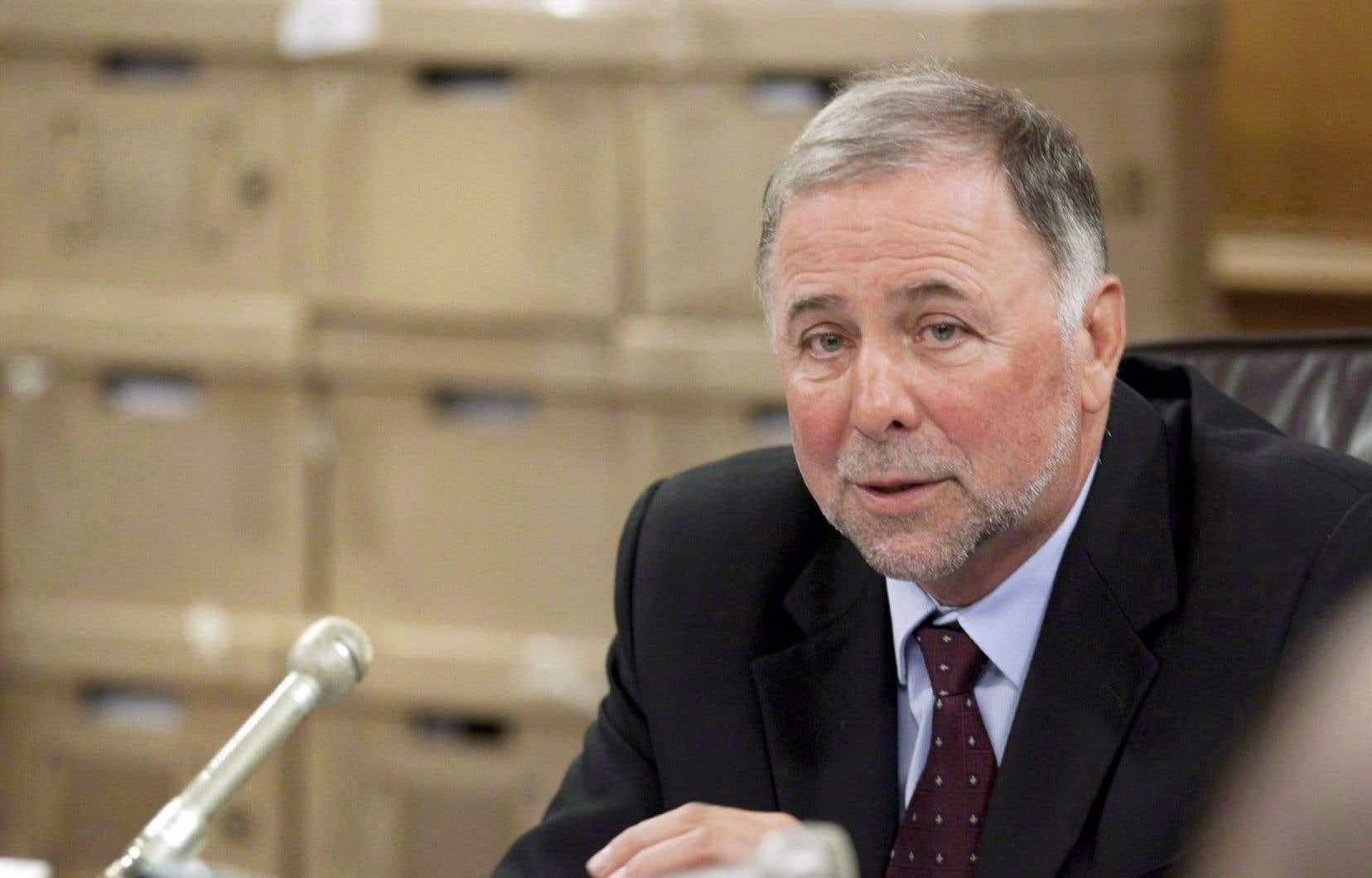 Le ministre de l'Agriculture, des Pêcheries et de l'Alimentation, Pierre Paradis