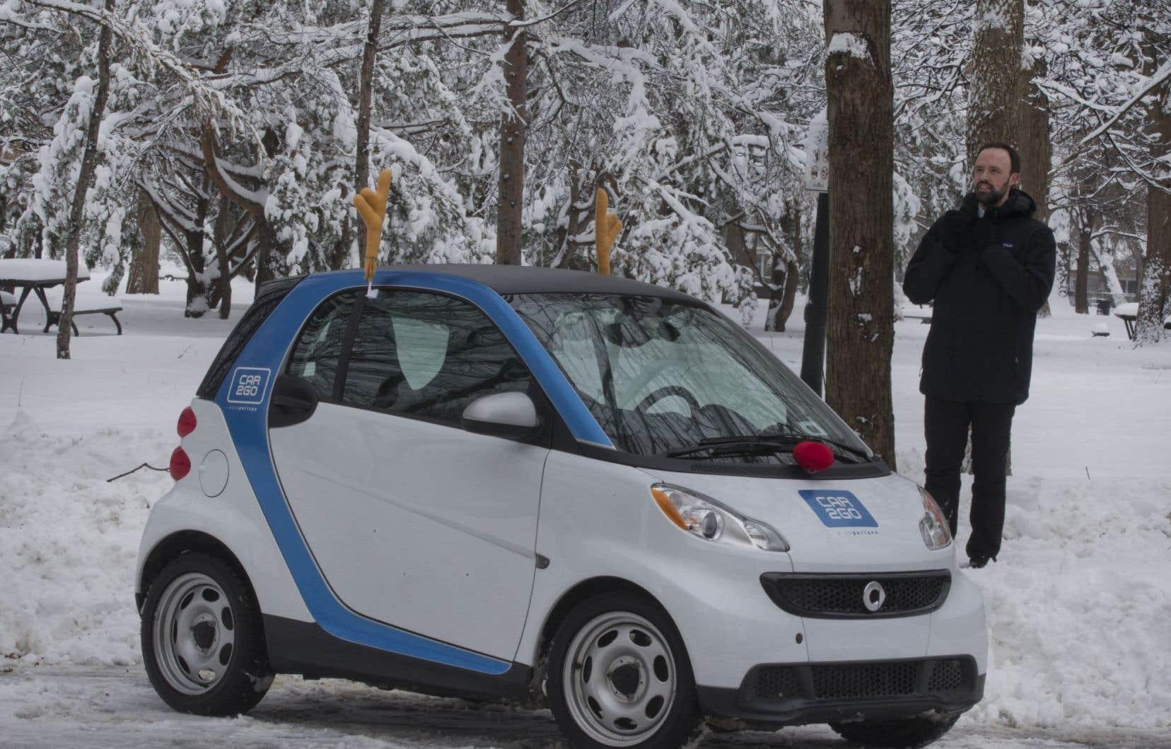 Jérémi Lavoie, directeur de Car2go Montréal, un opérateur de voitures en libre-service qui, un an après son implantation dans la métropole, compte déjà plus de 24000 abonnés.