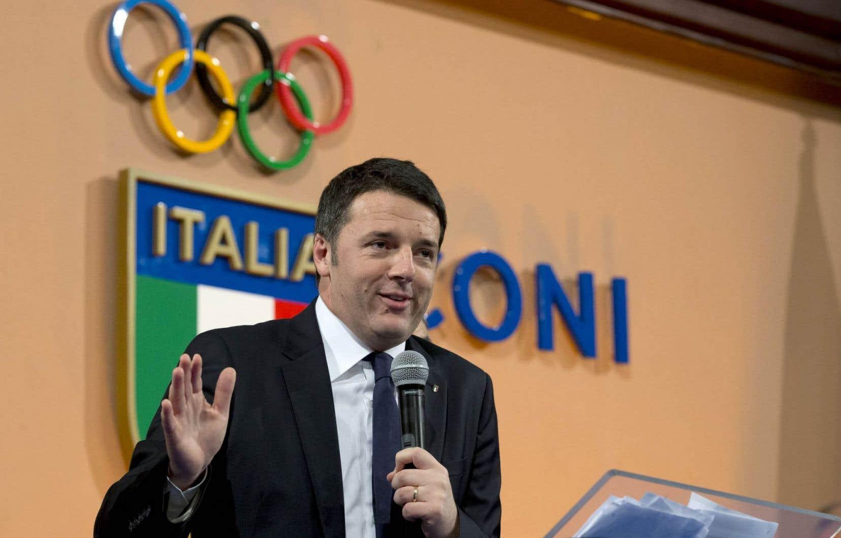 Le premier ministre italien, Matteo Renzi
