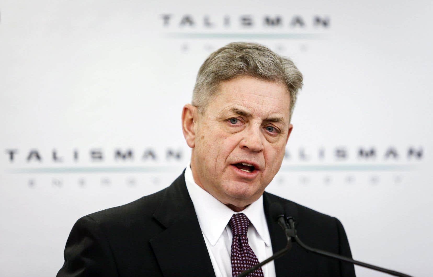 Hal Kvisle, président et chef de la direction de Talisman Energy