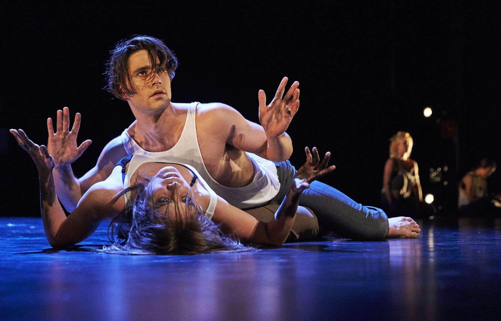 Guillaume Archambault-Lelièvre et Catherine Dagenais-Savard (danseurs de troisième année à l'École de danse contemporaine de Montréal