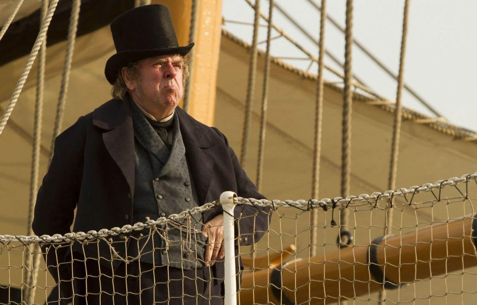 Une scène tirée du film <em>Mr. Turner</em> du réalisateur Mike Leigh, avec Timothy Spall dans le rôle du grand peintre britannique Turner.