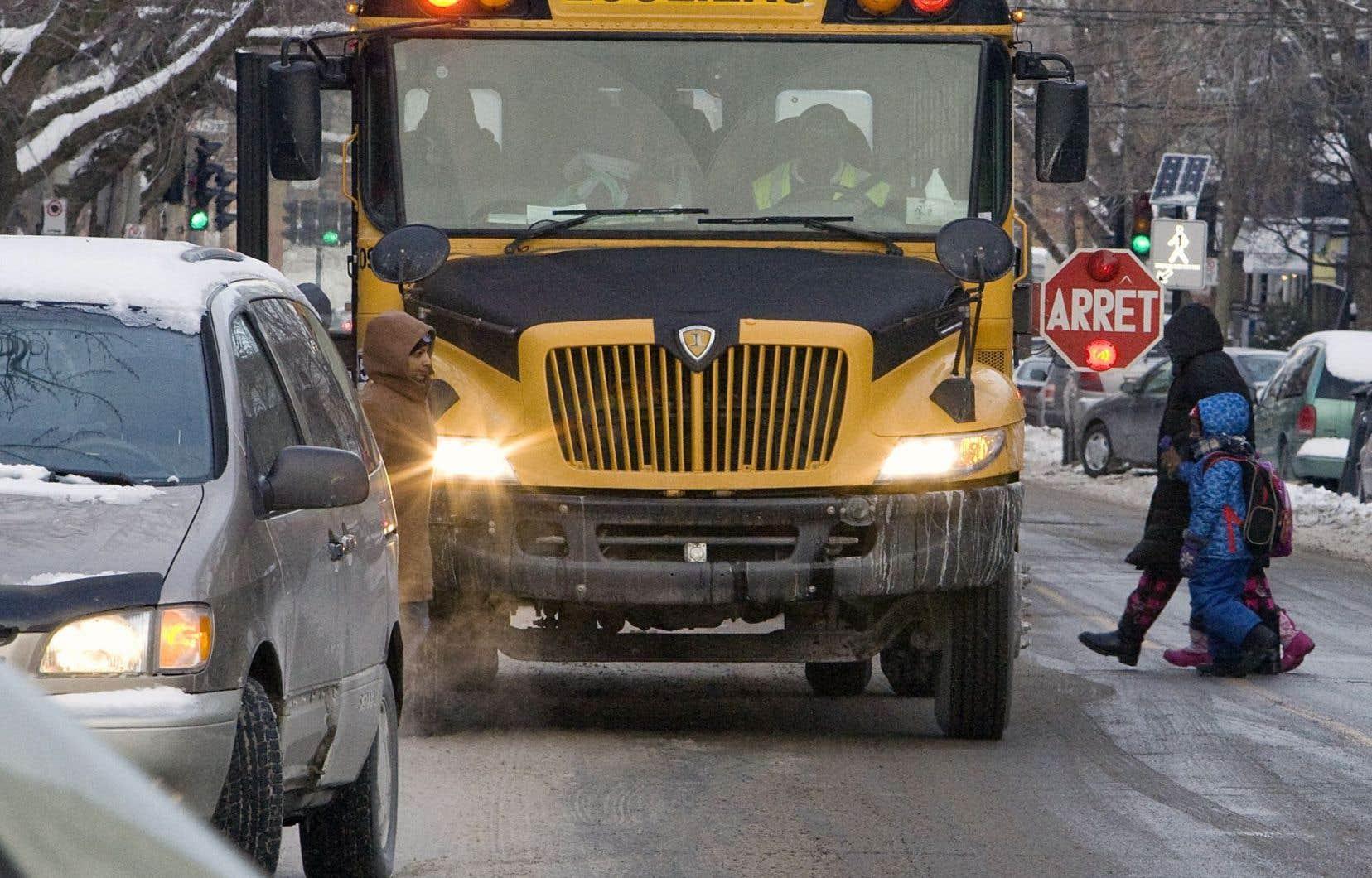 Le transport des élèves est un enjeu du redécoupage des commissions scolaires.