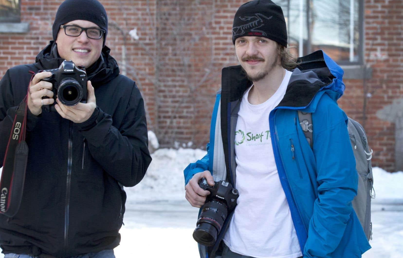 Vincent Simard et Frédéric Séguin s'apprêtent à lancer la première expédition de Shoot to Help.