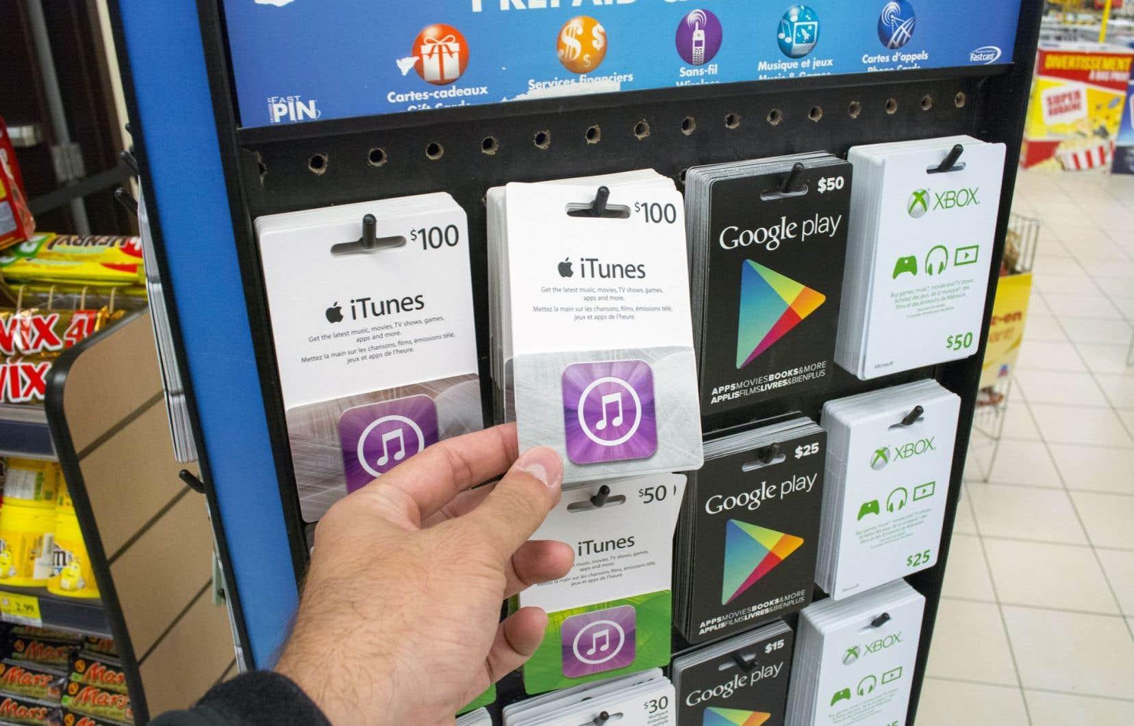 La carte-cadeau fournit un revenu aux entreprises avant que la marchandise ou le service ne soient livrés.