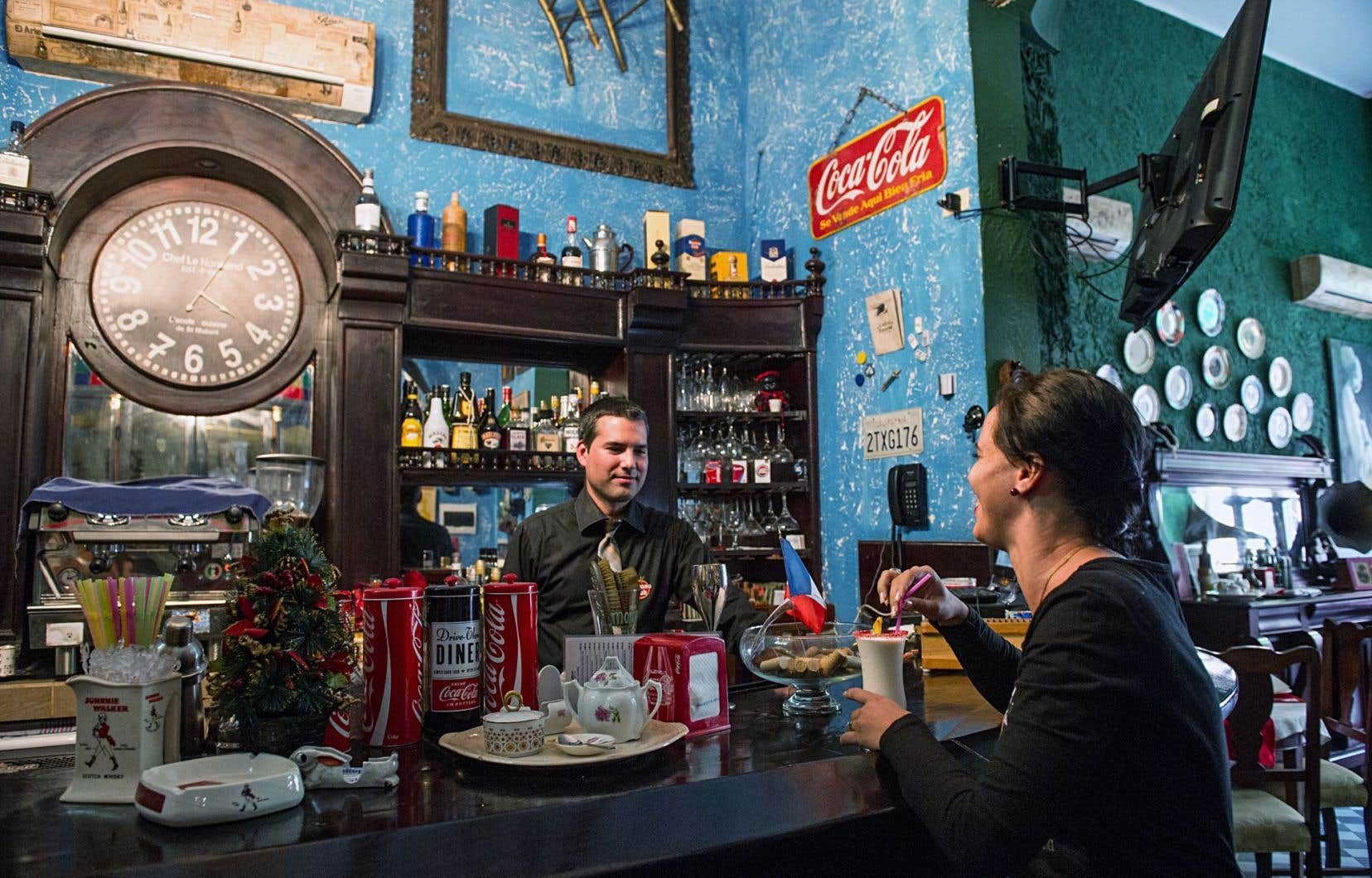 Dans un restaurant privé à La Havane