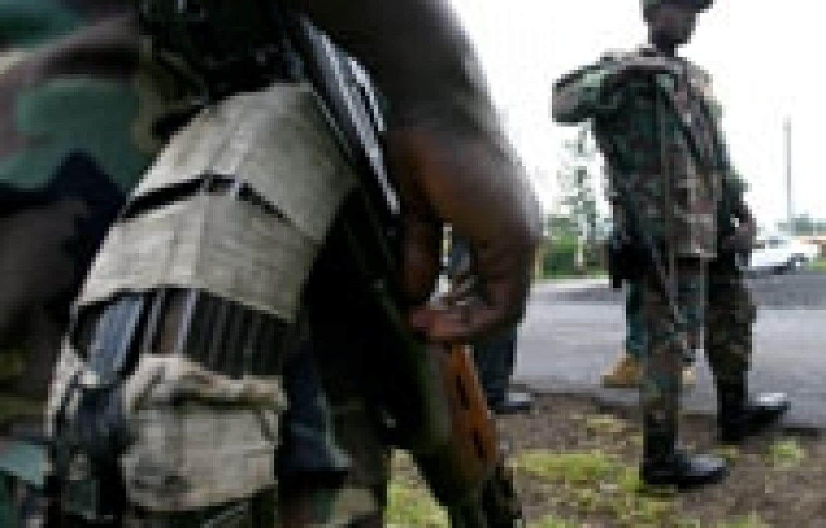 Troupes congolaises à pied d'oeuvre à Goma.