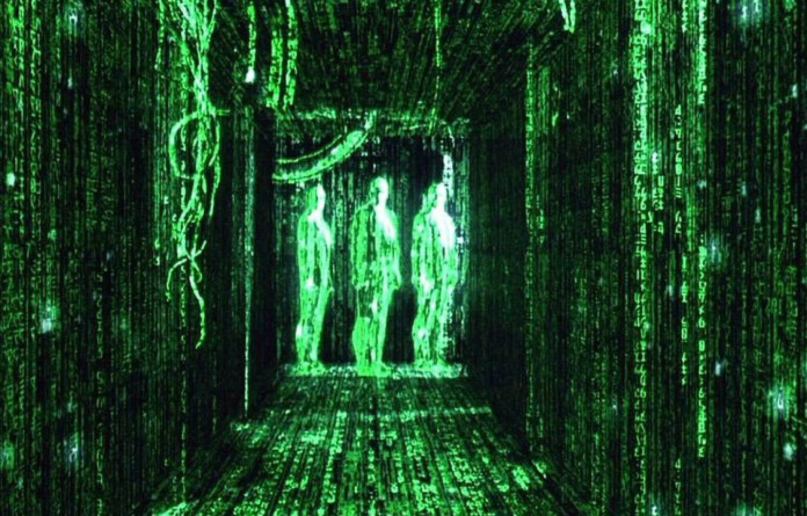 Scène tirée du film The Matrix.