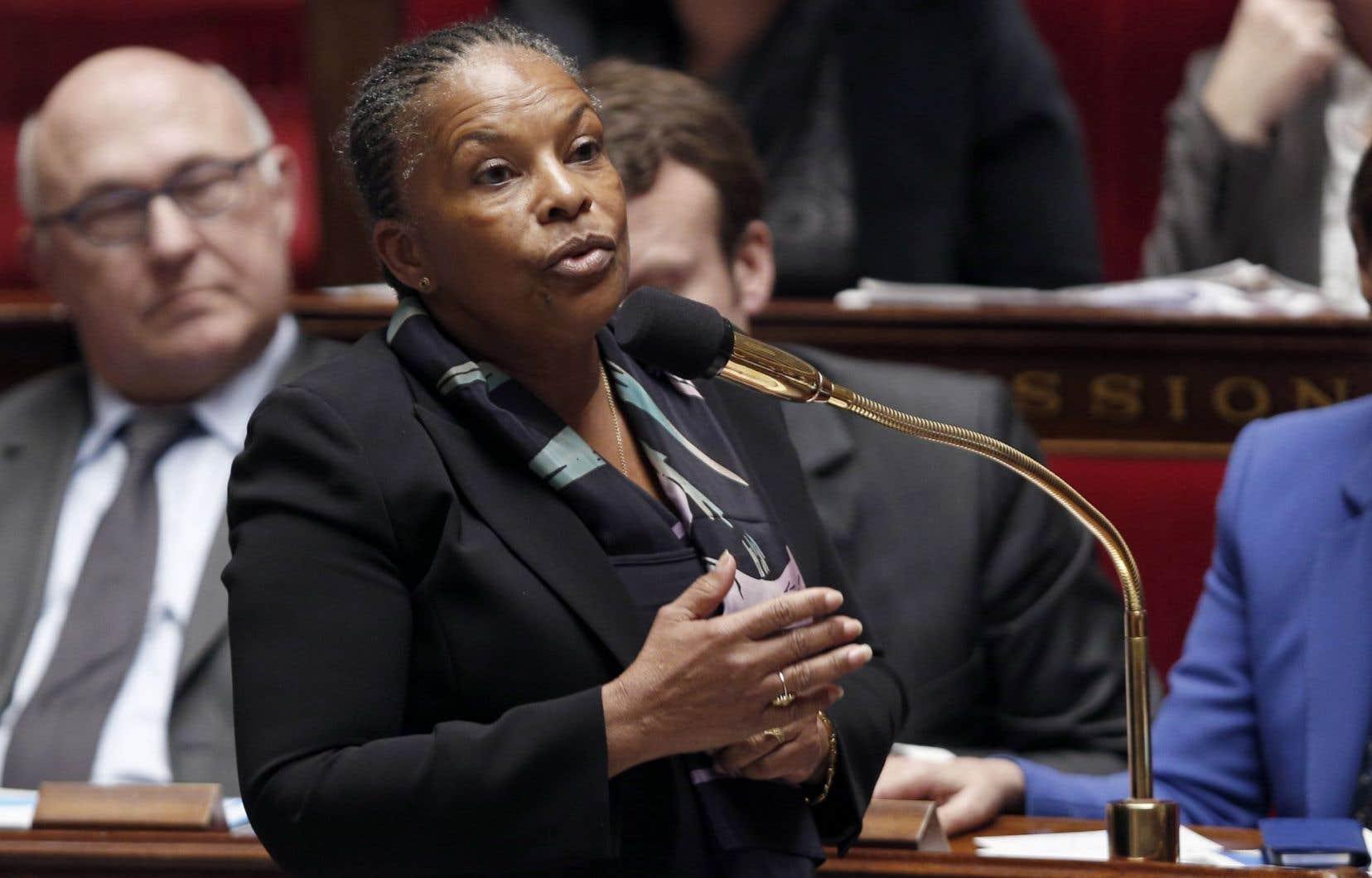La ministre de la Justice française, Christiane Taubira