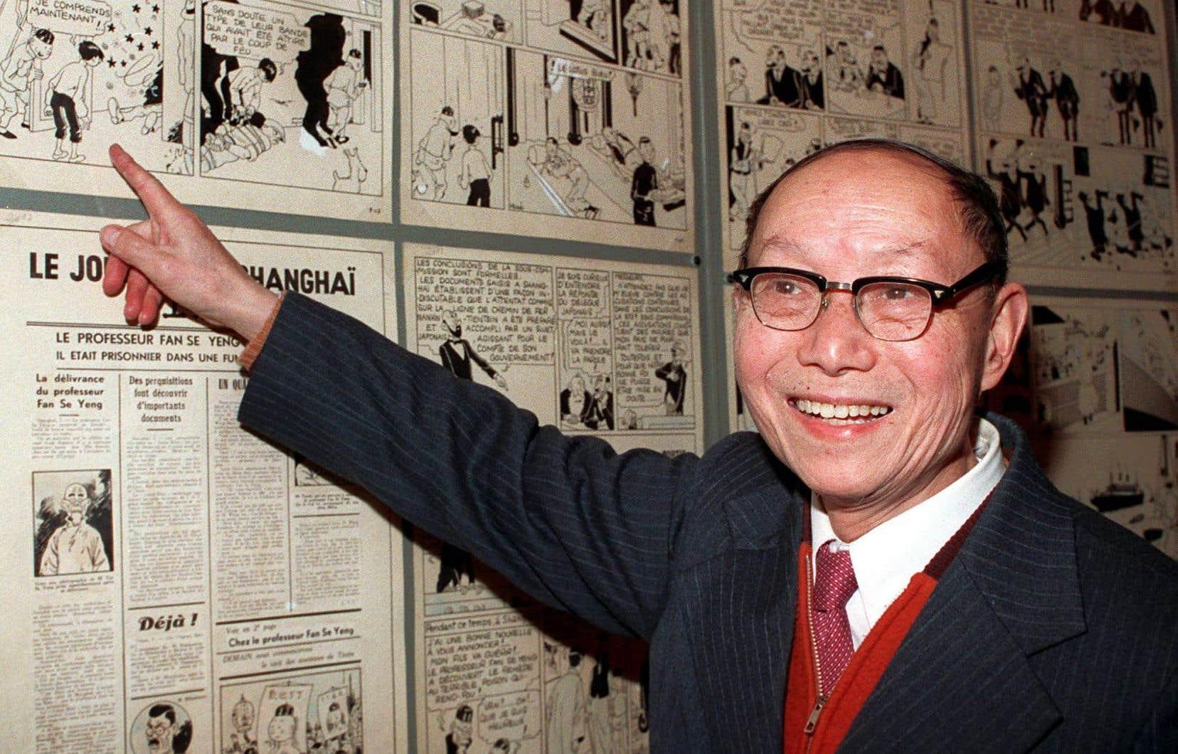 Pour le personnage du jeune Tchang du «Lotus bleu», Hergé s'est inspiré de Tchang Tchong-Jen, scuplteur et peintre décédé en octobre1998 en France à l'âge de 93ans. En janvier de la même année, on l'avait photographié au festival de bande dessinée d'Angoulème.