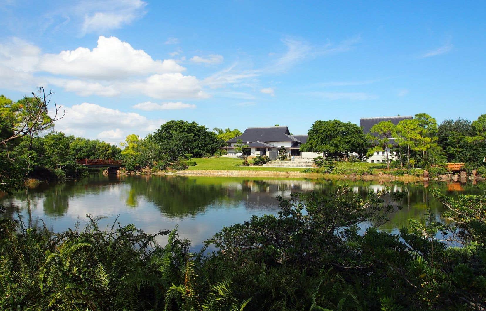 Les jardins japonais Morikami permettent un dépaysement instantané. Aménagés autour d'un grand étang, où plusieurs points de vue sont splendides, ils s'étendent sur 6,5 acres.