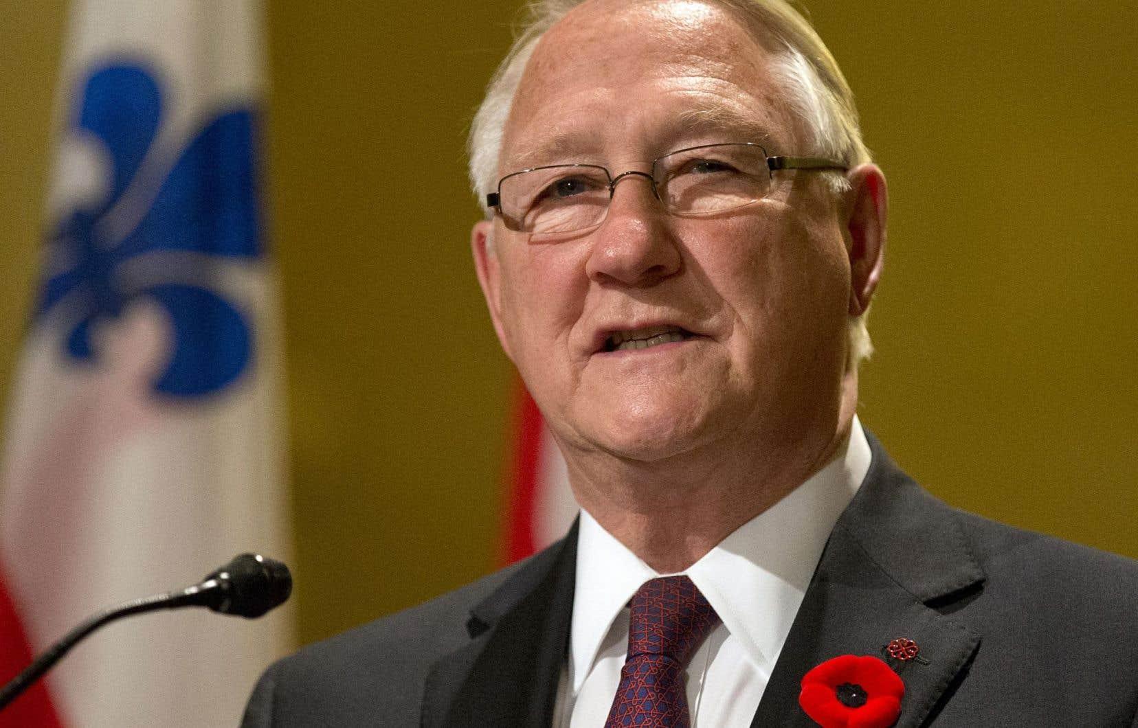 L'ancien maire de Montréal, Gérald Tremblay, a annoncé sa démission le 5 novembre 2012.