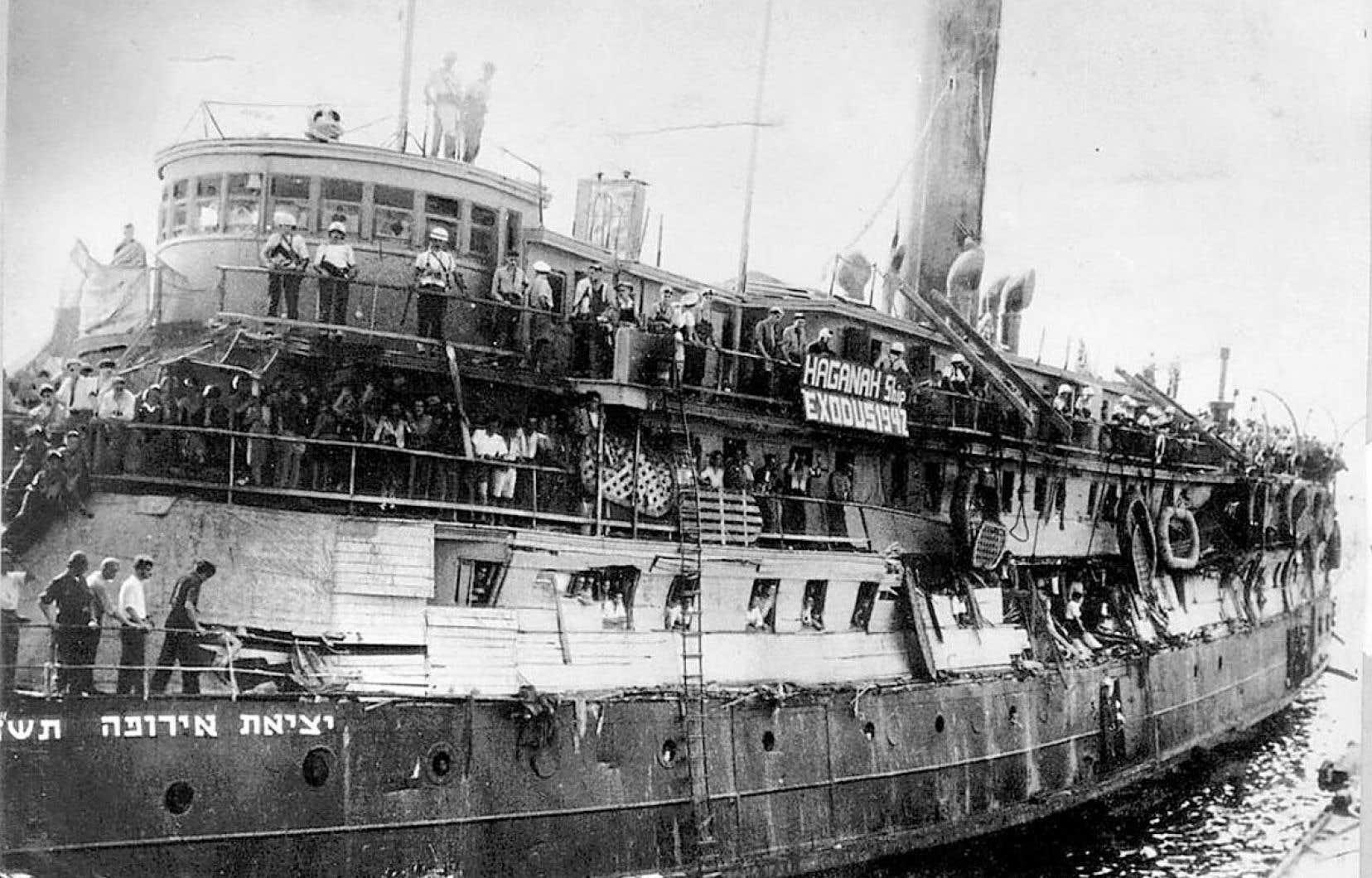 Près de 100 000 Juifs arriveront au Canada par bateau après l'Holocauste. Les passagers de «L'Exodus» n'ont jamais pu rejoindre la Palestine.