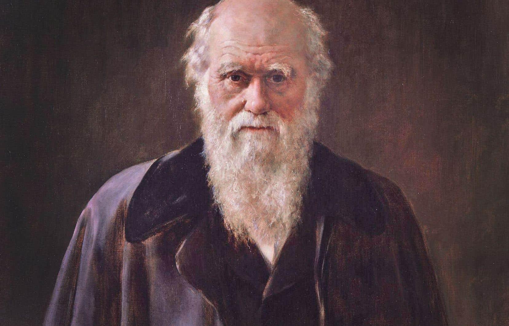 Adeptes de Darwin (ici peint par John Collier), les auteurs voient dans la «Male Idiot Theory» un phénomène relevant probablement de la sélection naturelle.