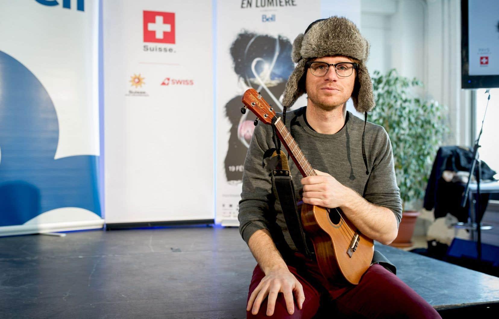 Vincent Vallières, qui sera aux commandes du concert d'ouverture de Montréal en lumière
