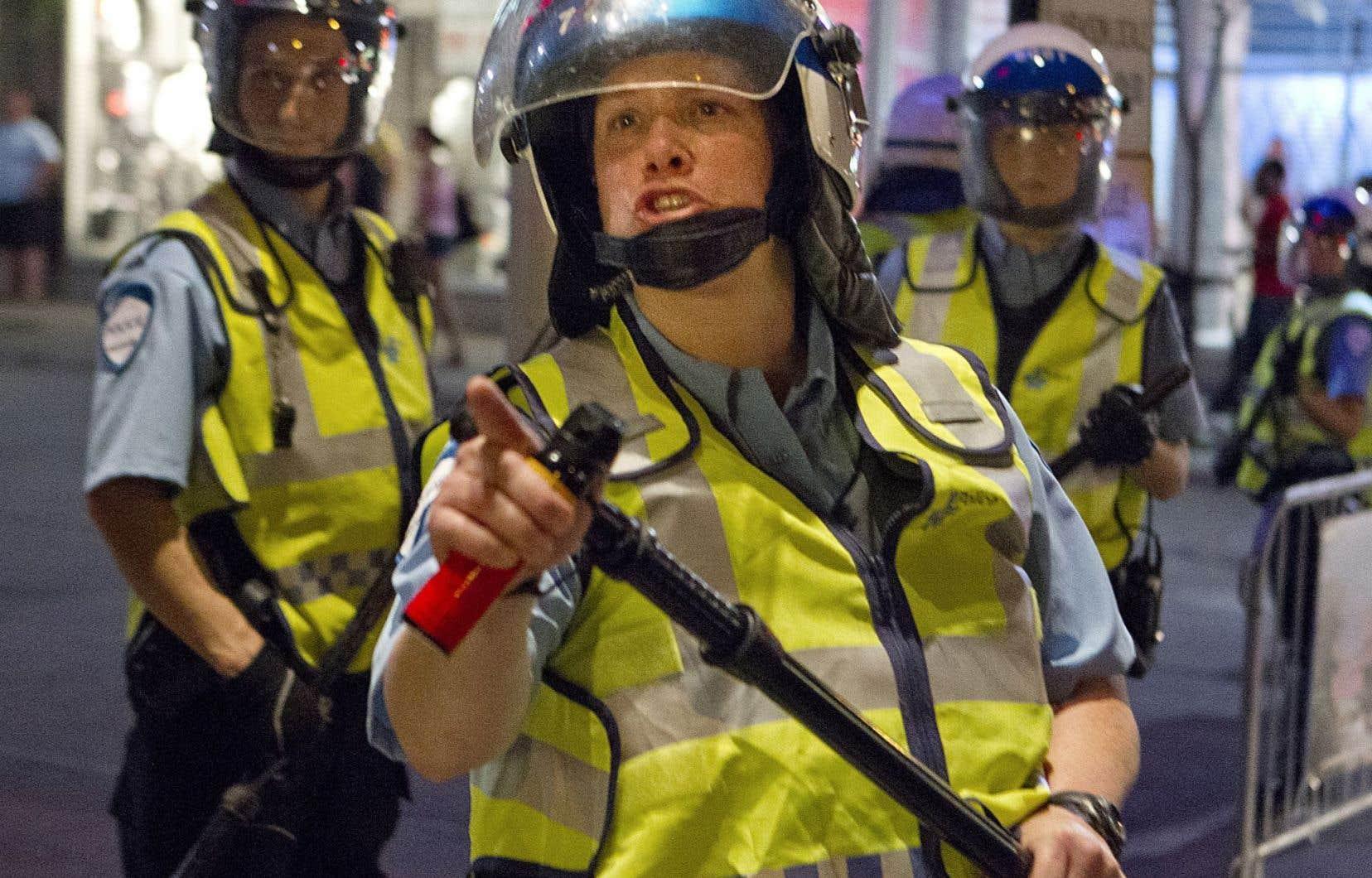 Stéfanie Trudeau, alias matricule 728, lors de la crise étudiante du printemps 2012.