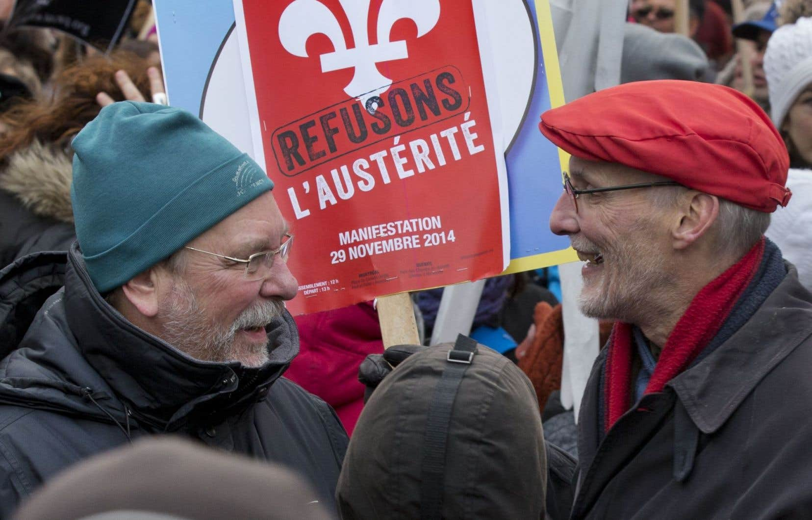 La FTQ a déjà appelé à la mobilisation de ses membres en novembre pour dénoncer les mesures d'austérité du gouvernement libéral.