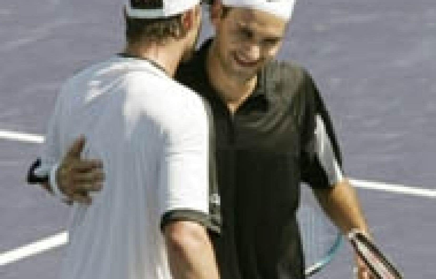 Federer s'est retrouvé hier avec un dossier à vie de 7-1 contre Roddick.