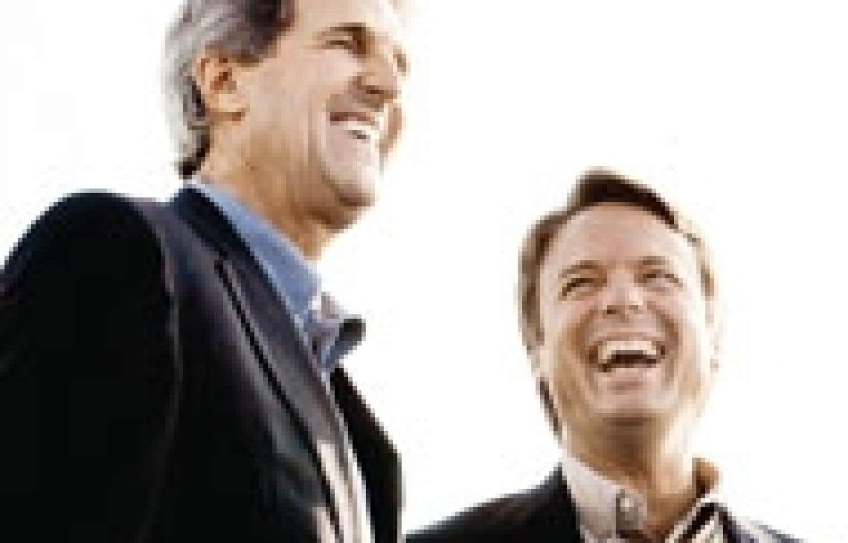 John Kerry et John Edwards, hier:«Plus respectueux».