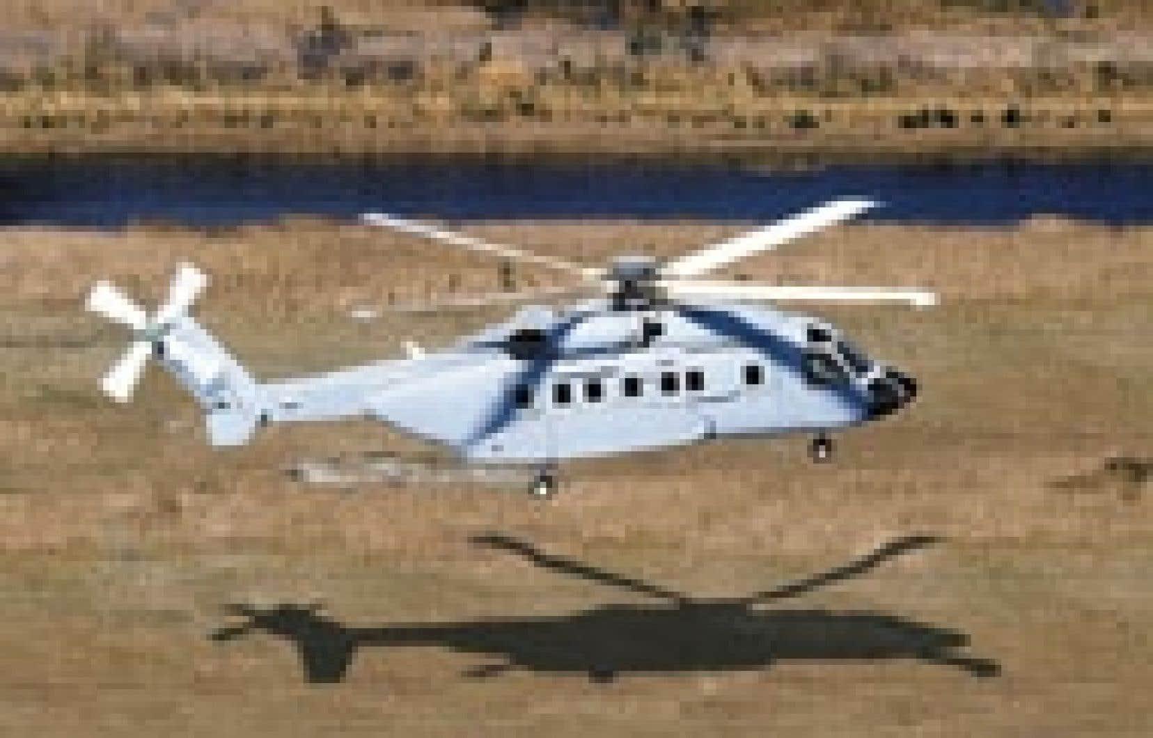 Le bimoteur S-92, fabriqué par l'entreprise américaine Sikorsky, a été présenté comme l'option la moins coûteuse lorsque comparé à son principal rival, le EH-101 Cormoran.