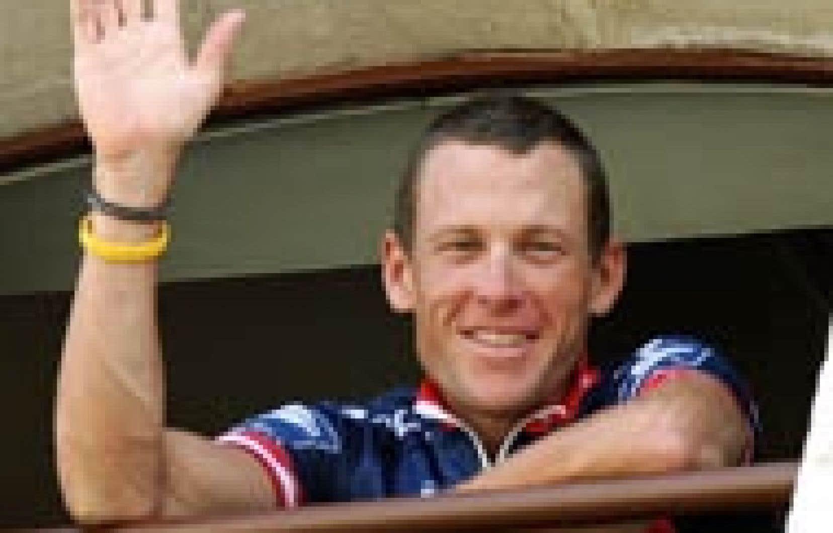 Journée de repos, hier, pour Lance Armstrong et tous les cyclistes du Tour de France.