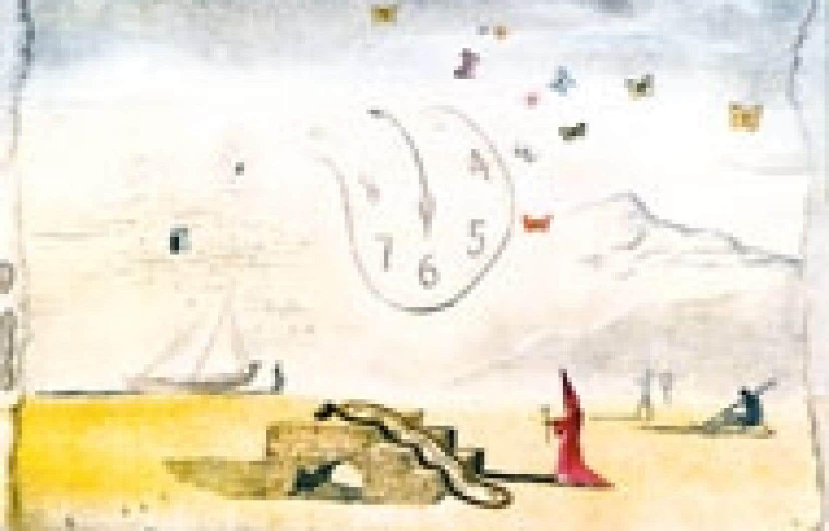 Les Montres molles et les papillons, Salvador Dali, 1974, gravure 57,2 x 80 cm, collection Albaretto. Source: Fondation Gala-Salvador Dali/Sodrac 2004