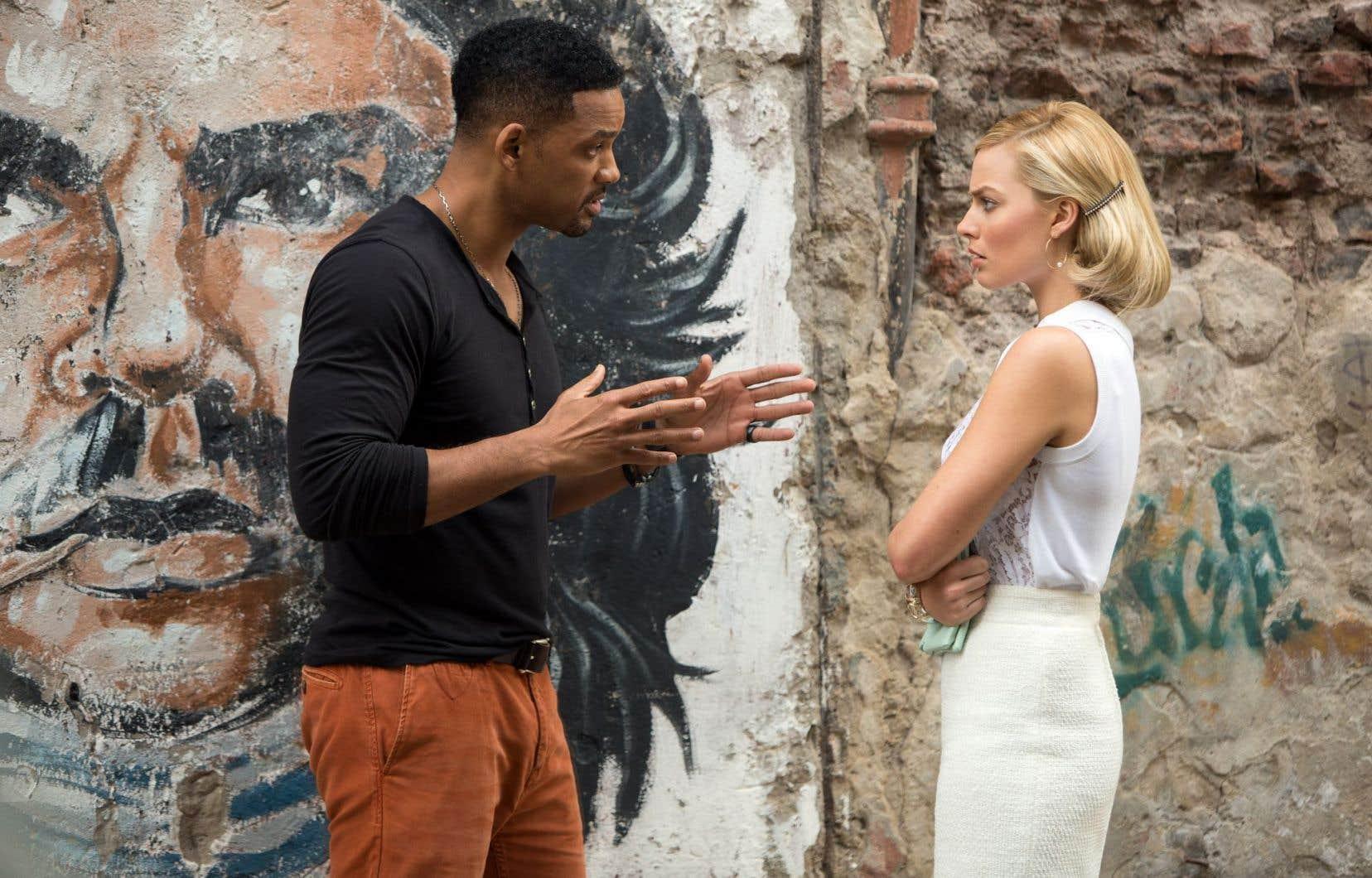 Will Smith et Margot Robbie dans Focus, un film qui fait rimer arnaque et romance.
